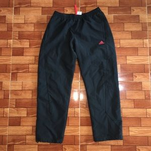 BLACK/RED ADIDAS WINDBREAKER JOGGER PANTS